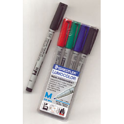 Water Soluble Marker: 4-pack (Red, Blue, Green, Black)