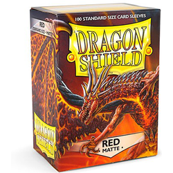 Dragon Shield Sleeves - Standard Matte Red (100 ct. in box)