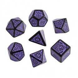 Call of Cthulhu RPG 7th ed Dice Set: Horror on the Orient Express Black w purple (7)