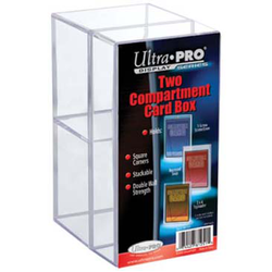 Ultra Pro 2-Piece Clear Card Box Two Compartment