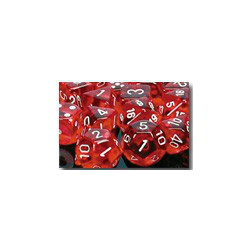 Translucent: Red/white (36-dice set)