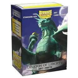 "Dragon Shield Sleeves - Standard Art Sleeves ""Dragon of Liberty"" (100 ct. in box)"