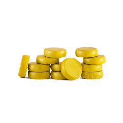 Woodestic Crokinole Disc Yellow (13 st)