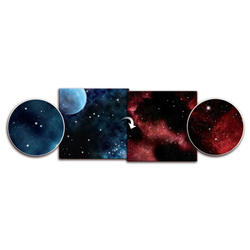 Double sided Game Mat Crimson Gas Giant/Frozen Star System 3x3 ~ 90x90cm (Mousepad)
