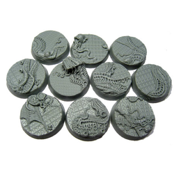 Corpse Fields, Beveled Bases Steel Invasion 25mm (10)