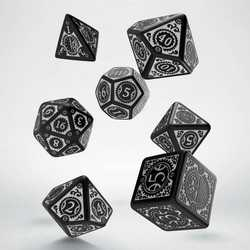 Steampunk Clockwork Dice Set (Black and White)