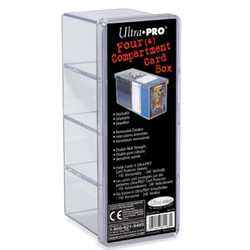 Ultra Pro Cardbox - 4 Compartment (Clear)