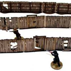 28mm Dead Mans Hand Yard Panel Fencing (with gates)