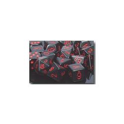 Opaque: Black/red (7-Die set)