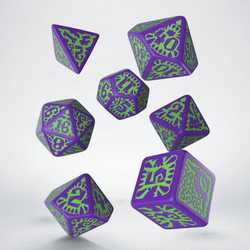 Pathfinder Dice Set: Goblin Purple & Green