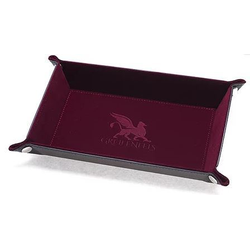 Dice Tray Rectangle Series: Burgundy