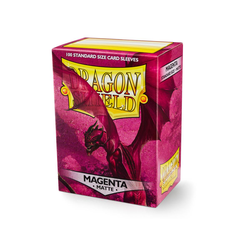 Dragon Shield Sleeves - Standard Matte Magenta (100 ct. in box)