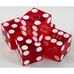 Cancelled Casino Dice Red, 19mm
