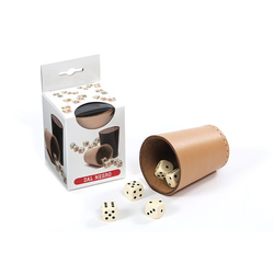 Dal Negro Leather Dice Cup with Dice (tärningskopp)