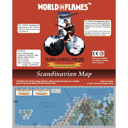 World in Flames: Scandinavia Mounted Map (Collector's Edition)