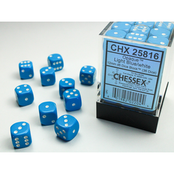 Opaque: Light Blue/white (36-dice set)