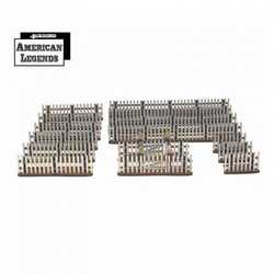 28mm Dead Mans Hand Weathered Picket Fence
