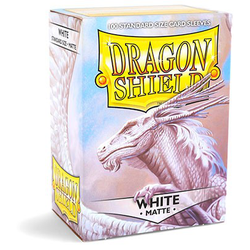 Dragon Shield Sleeves - Standard Matte White (100 ct. in box)