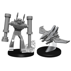 Transformers Deep Cuts Unpainted: Laserbeak and Frenzy