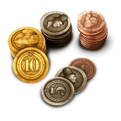 Industrial Metal Coin Set (50 st)