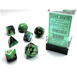 Gemini™ Black-Green w/gold (7-Die set)
