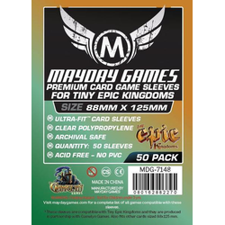 "Card Sleeves ""Tiny Epic Kingdoms"" Clear 88x125mm  (50) (Mayday)"