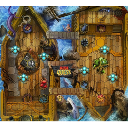 Riot Quest: Hullgrinder - pirate ship fabric playmat (neoprene)